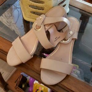 Topshop Nude Heel Sandals size 5